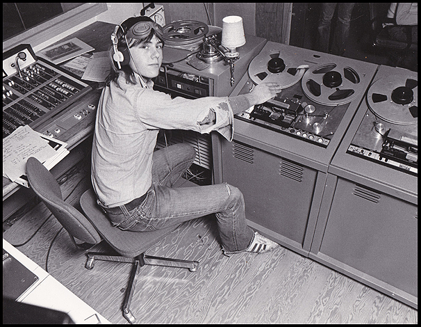Jeff at CKCU production 1975